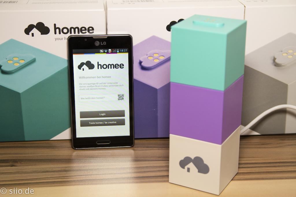 Homee mit Zwave &Enocean Würfel  + Smartphone App