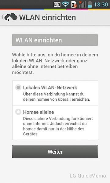 Homee WLAN einrichten - WLAN oder Stand alone