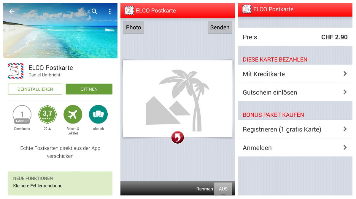 Elco Postkarte App Test