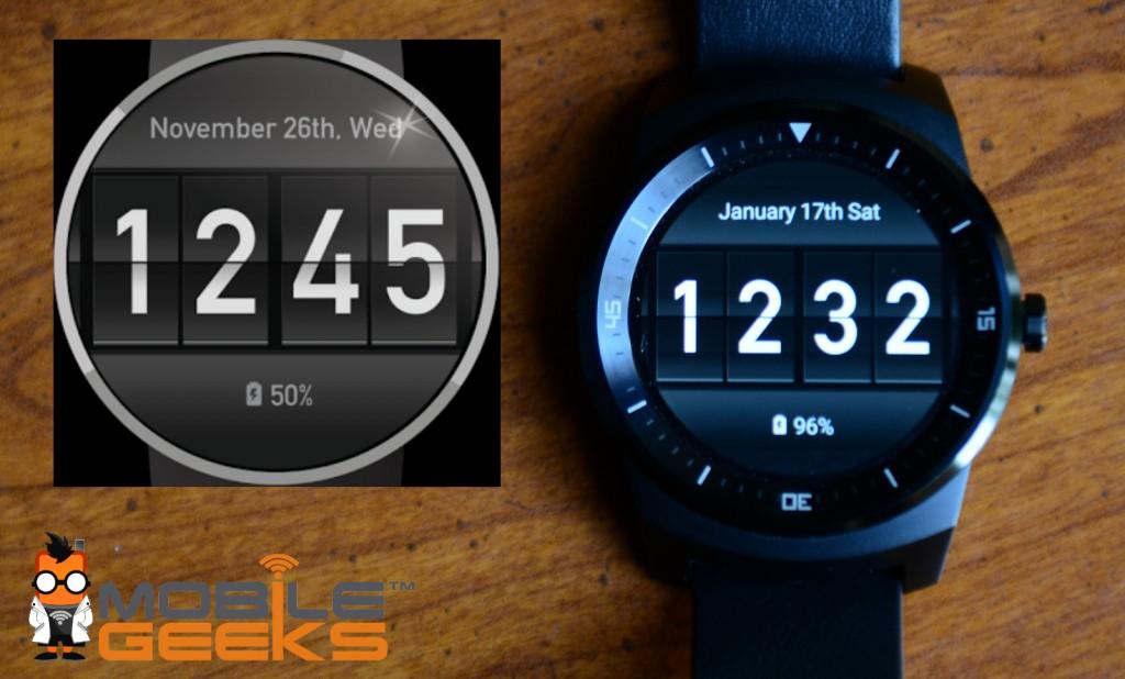Flip Clock Android Watchface