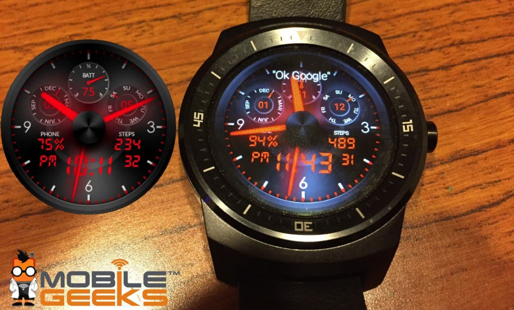 Glo Red LED Watchface