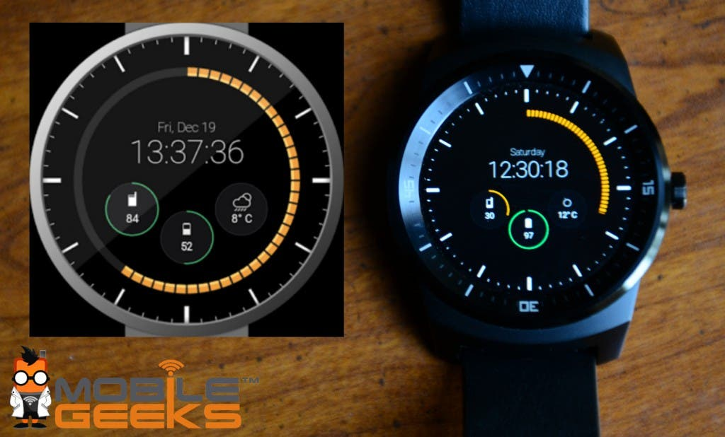 Pujie Black Watchface Android Round