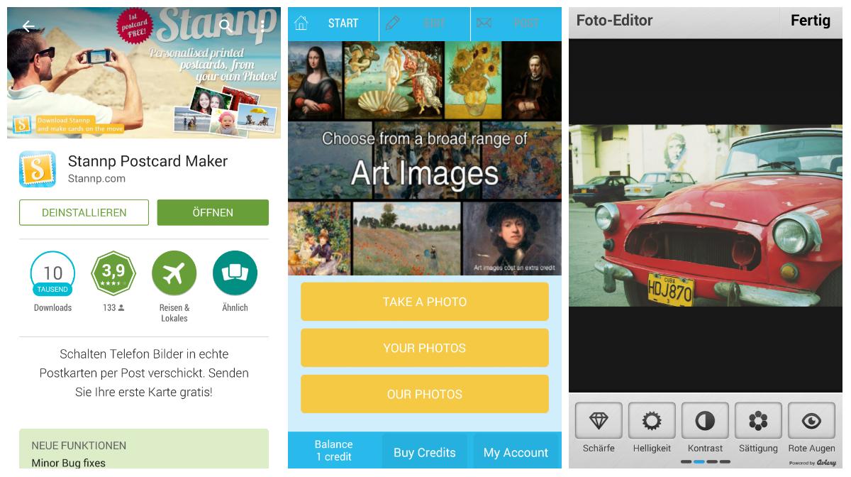 Stannp Postkarten App Test