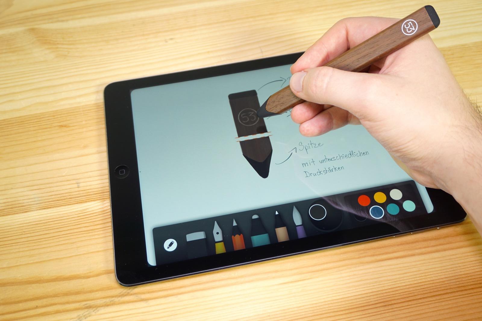 Zeichnen mit dem FiftyThree Pencil in Paper