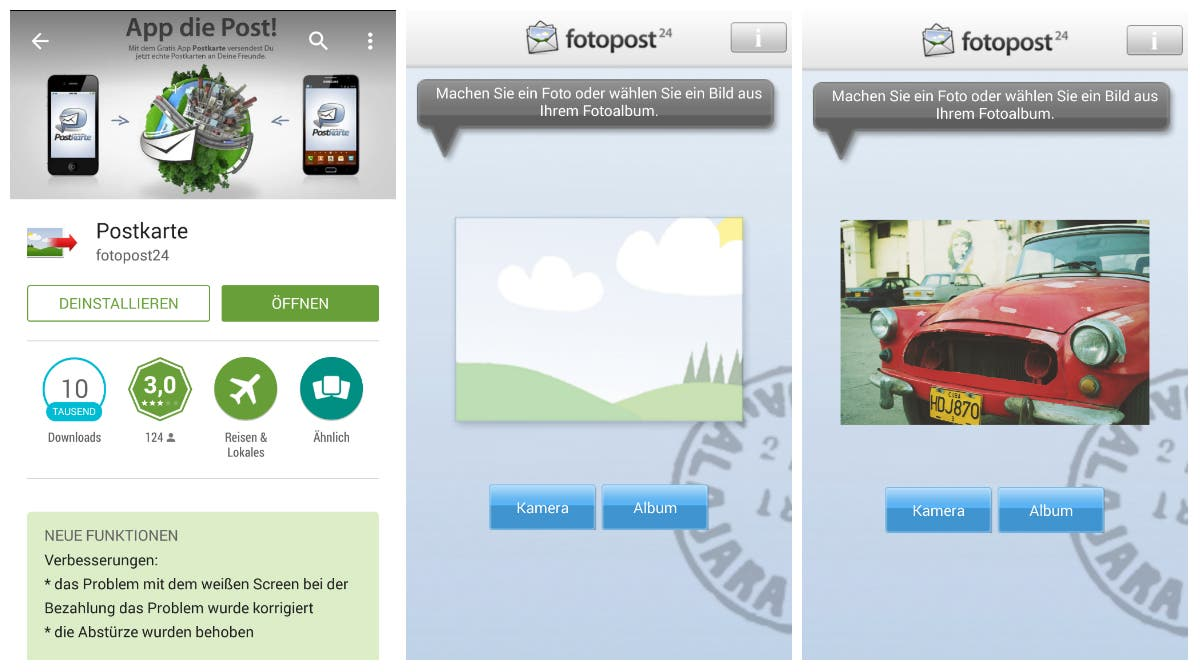 fotopost24 postkarten app test
