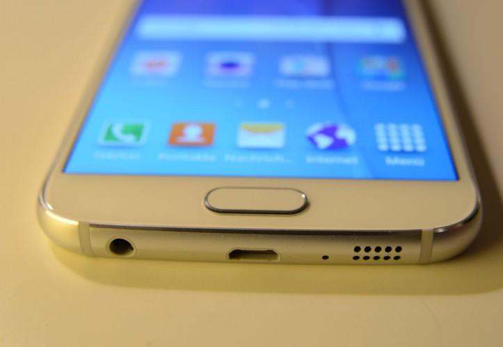 Samsung Galaxy S6 - Blick auf den Home-Button