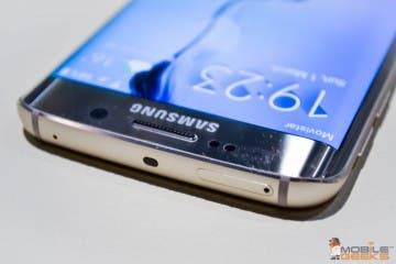 Samsung Galaxy S6 Edge - Blick auf die obere Front