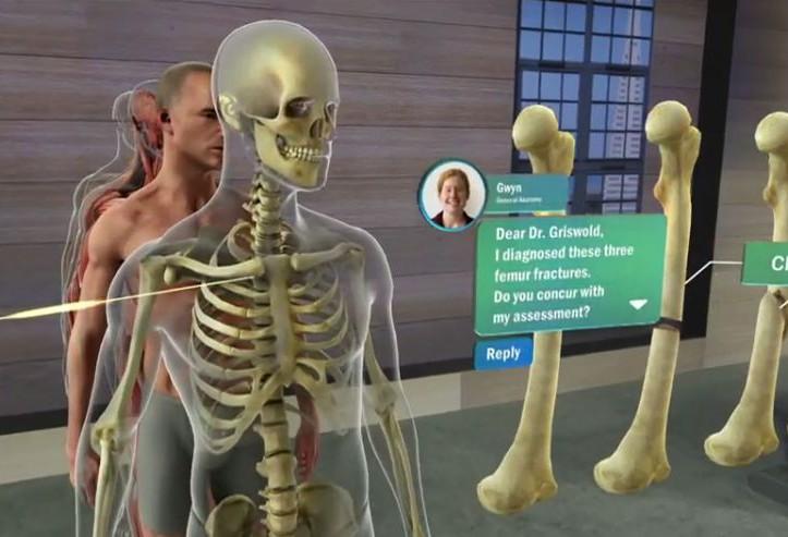 HoloLens - menschlicher Körper als Hologramm