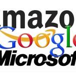 Amazon-Google-Microsoft: Logo-Collage