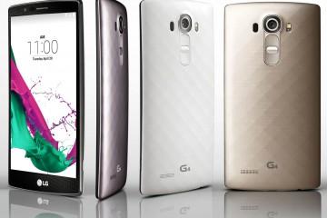 LG G4 Pressebild mit Vorder- und Keramik-Rückseite