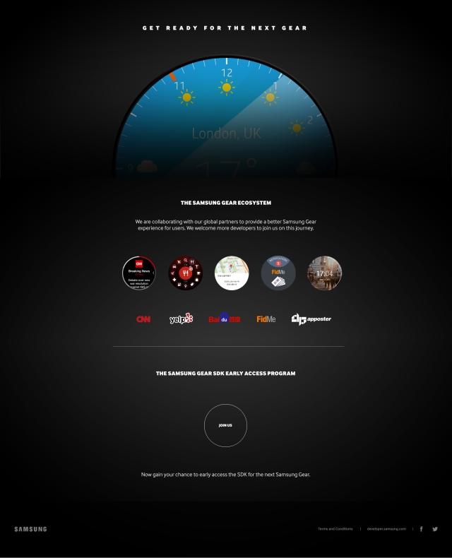 Teaser für Samsung Gear mit rundem Display