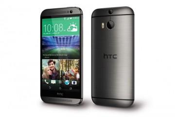 HTC One M8s Vorder- und Rückseite nebeneinander