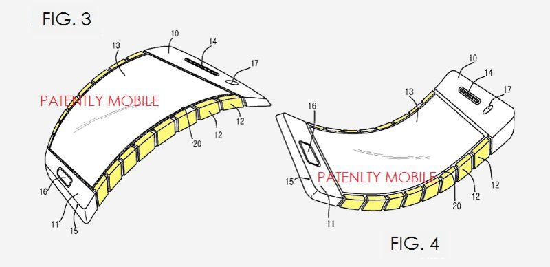 Skizze eine flexiblen smartphone