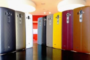 LG G4 - alle Rückseiten nebeneinander