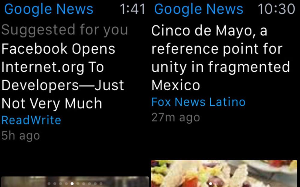 Google News Apple Watch