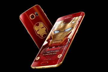Galaxy S6 edge Iron Man Limited Edition: Vorder- und Rückseite
