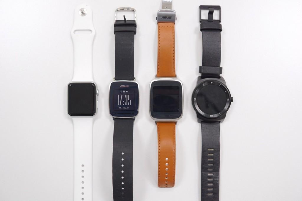 VivoWatch Apple Watch Zenwatch G Watch R von vorne