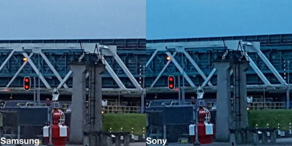 Vergleichsbild des Samsung Galaxy S6 Fotosensors
