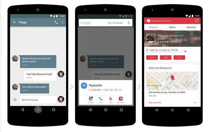 Google Now Funktionalität