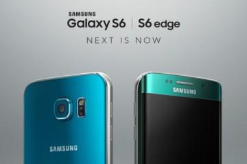 Samsung Galaxy S6 Edge in Blau und Grün