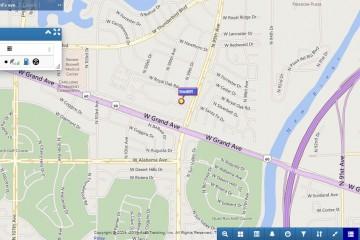 Screenshot von AccuTracking-Karte