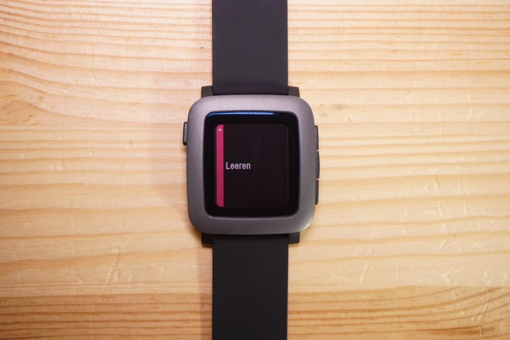Pebble Time Benachrichtigung iOS leeren