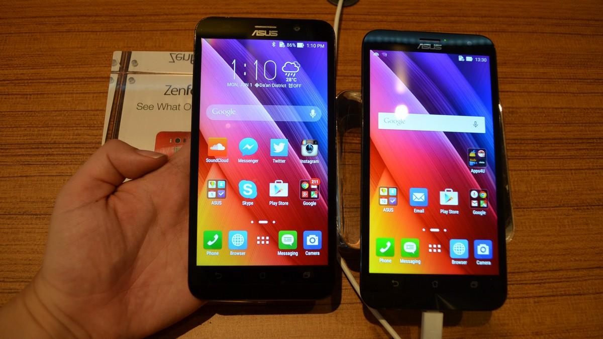 ASUS ZenFone 2 Front: Neu vs alt
