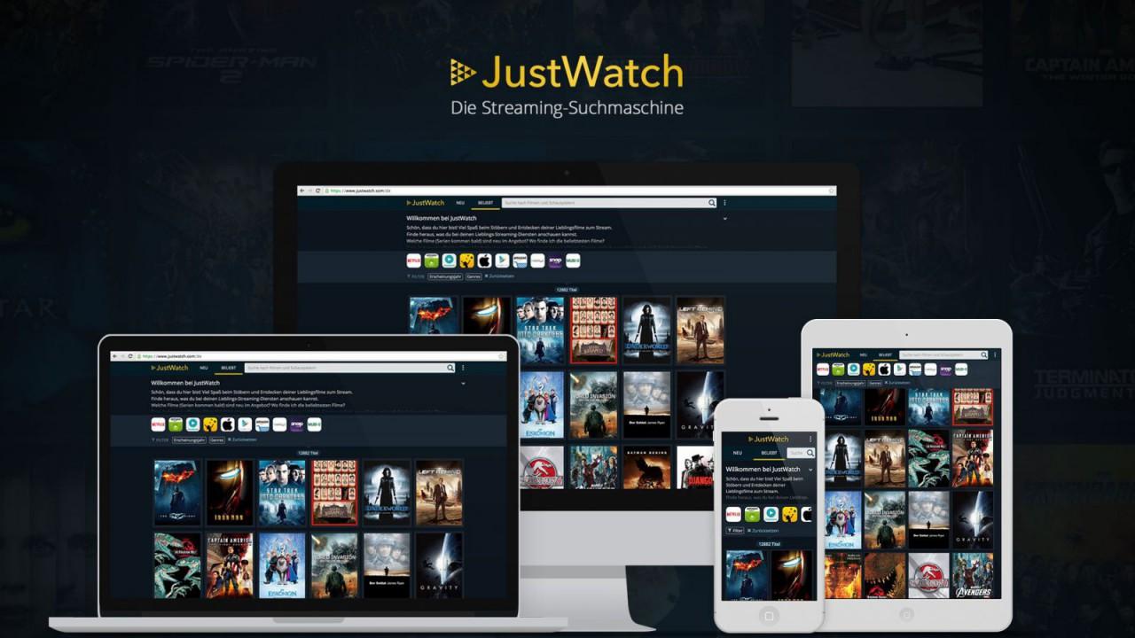 JustWatch auf verschiedenen Devices