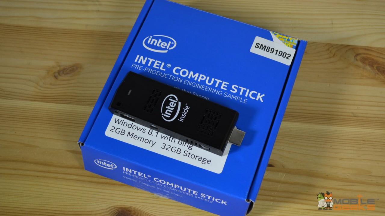 Intel Compute Stick auf Verpackung