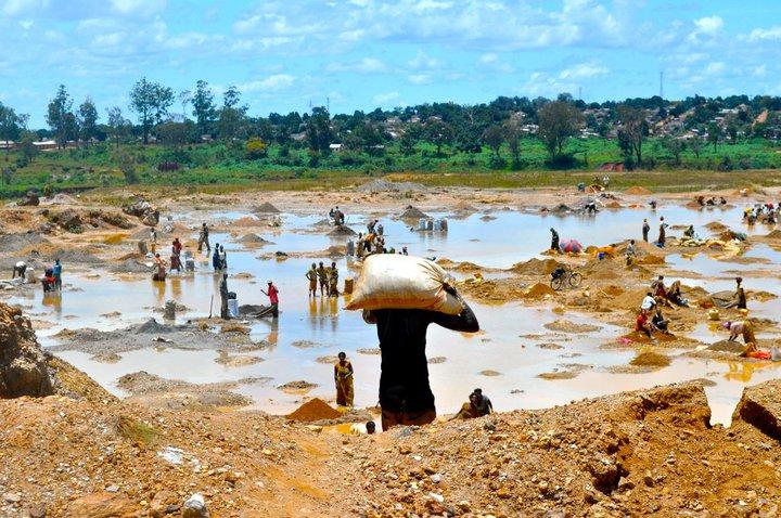Blick auf eine Mine im Kongo