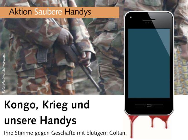 Aktion von missio: Saubere Handys