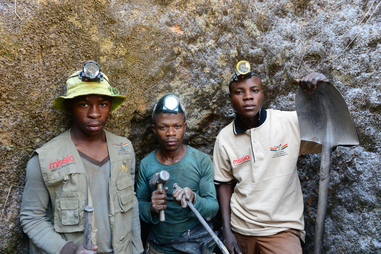 Minen-Arbeiter im Osten Kongos