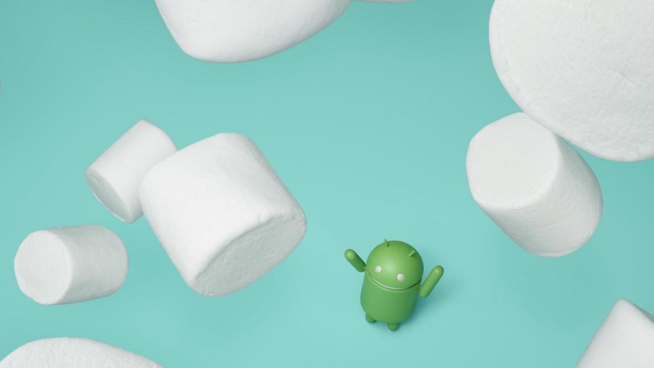 Android Männchen und Marshmallows