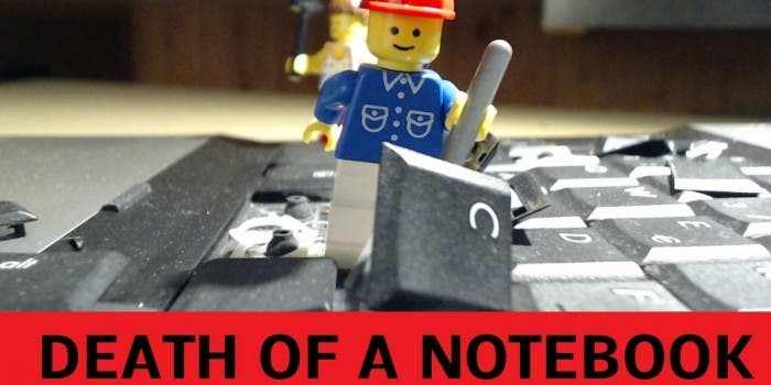 The Evil Legos – die Zerstörung eines Laptops