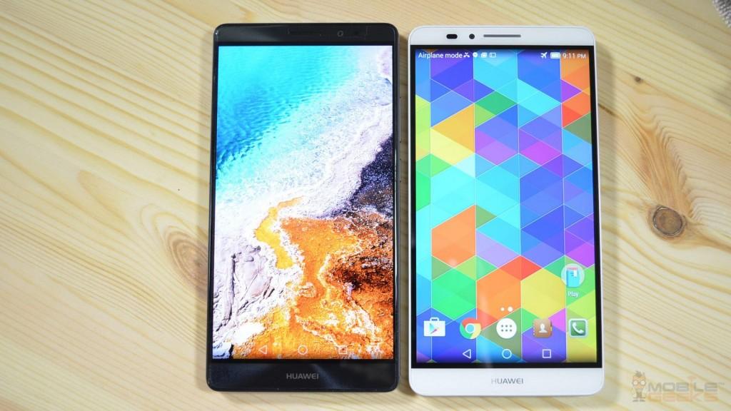 Huawei Mate 7 und 8: Front-Ansichten