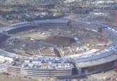 Blick auf die Baustelle des Apple Campus im Februar 2016