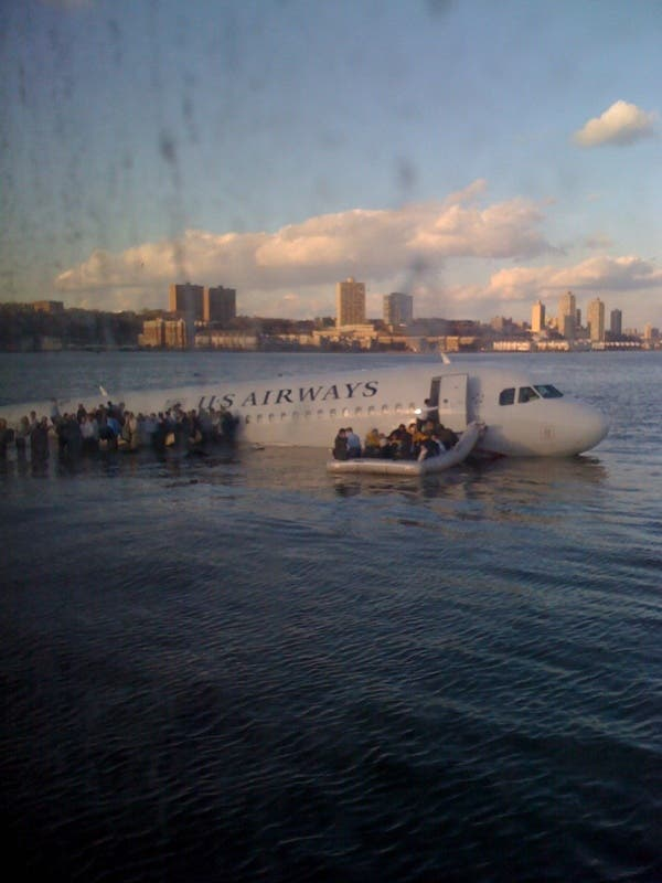 US Airways-Flugzeug im Hudson-River