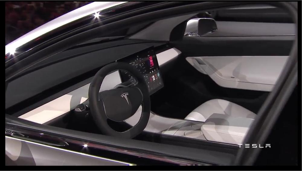 Model 3 Innenraum