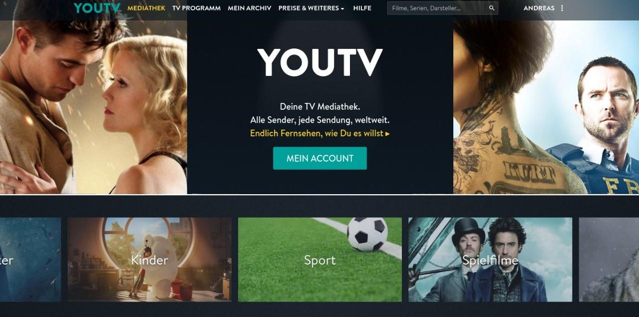 YouTV Online-Videorekorder