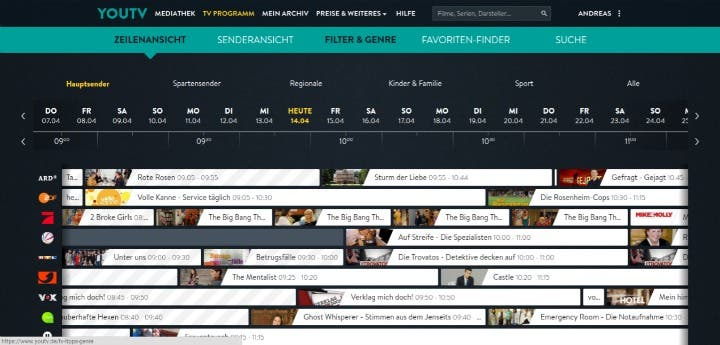 YouTV Programmguide