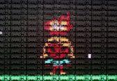 160 Logitech G810 Tastaturen als Pixel-Wall