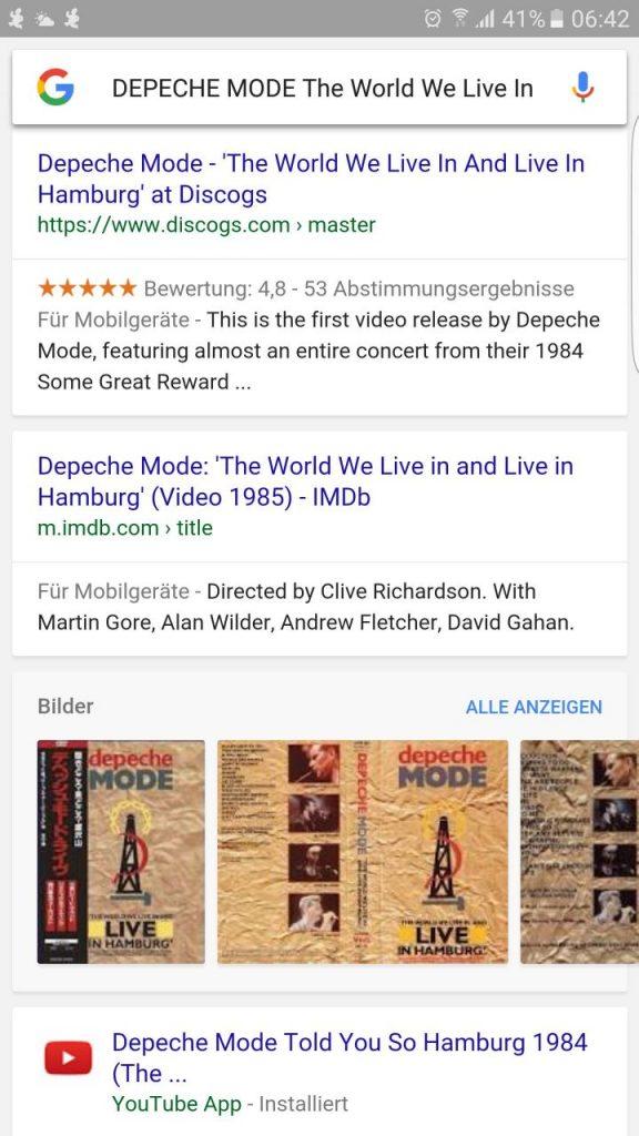Google Now on Tap Screenshot Google Search