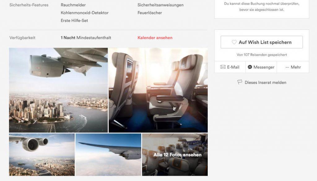 Lufthansa Airbnb