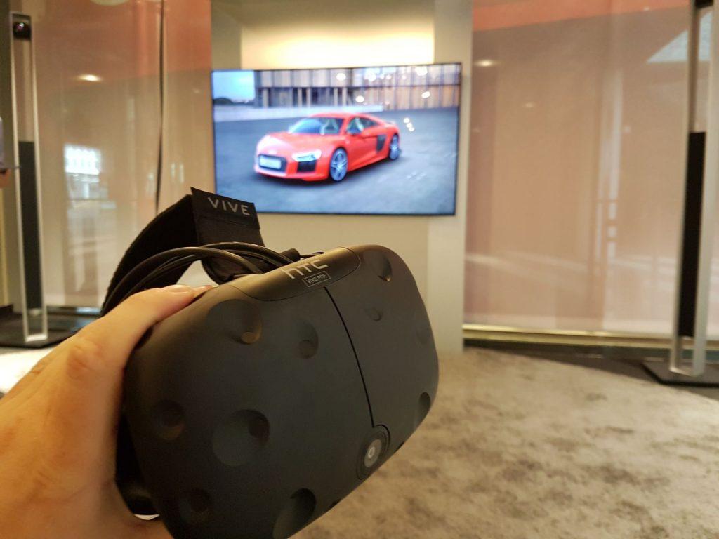 HTC Vive im Audi Virtual Car Konfigurator