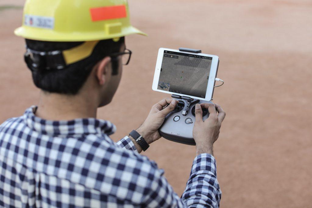 DJI M200 Controller im Einsatz mit iPad