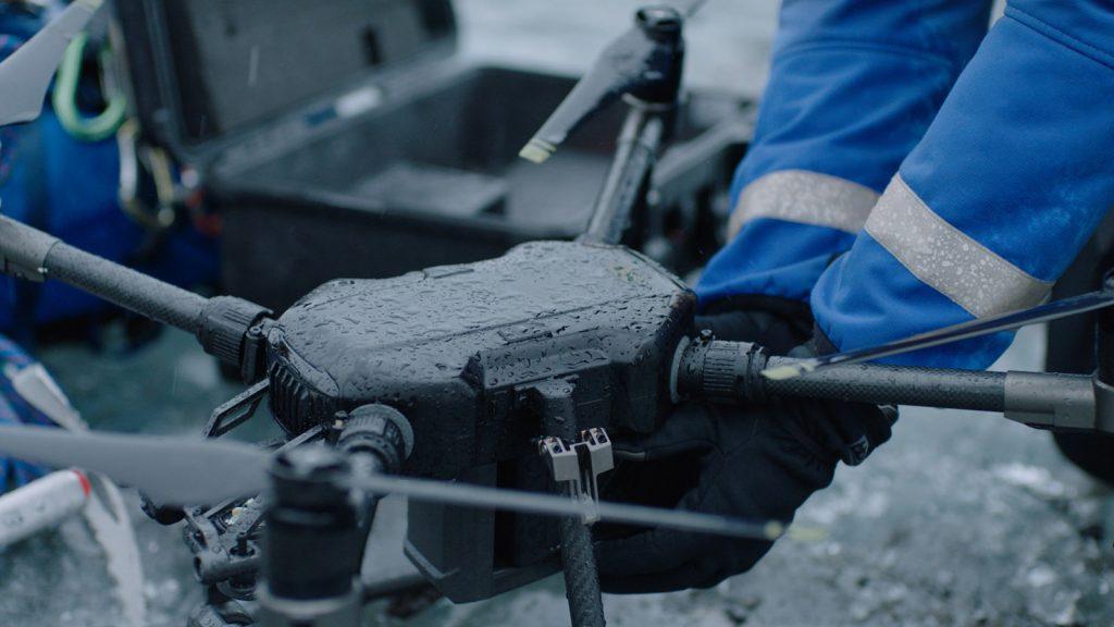 DJI M200 geeigent für den EInsatz auch im Regen.