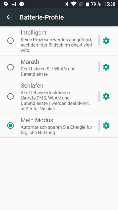 Umi Plus E Batterie-Profile