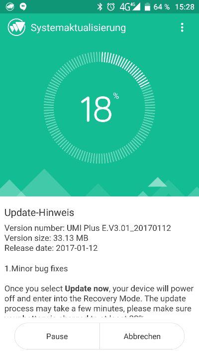 Umi Plus E OTA Update 2