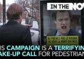 Reklametafel schockt unbelehrbare Fußgänger