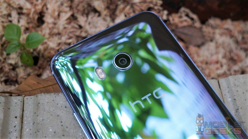 HTC U11 Detailaufnahme von der Rückseite und Hauptkamera